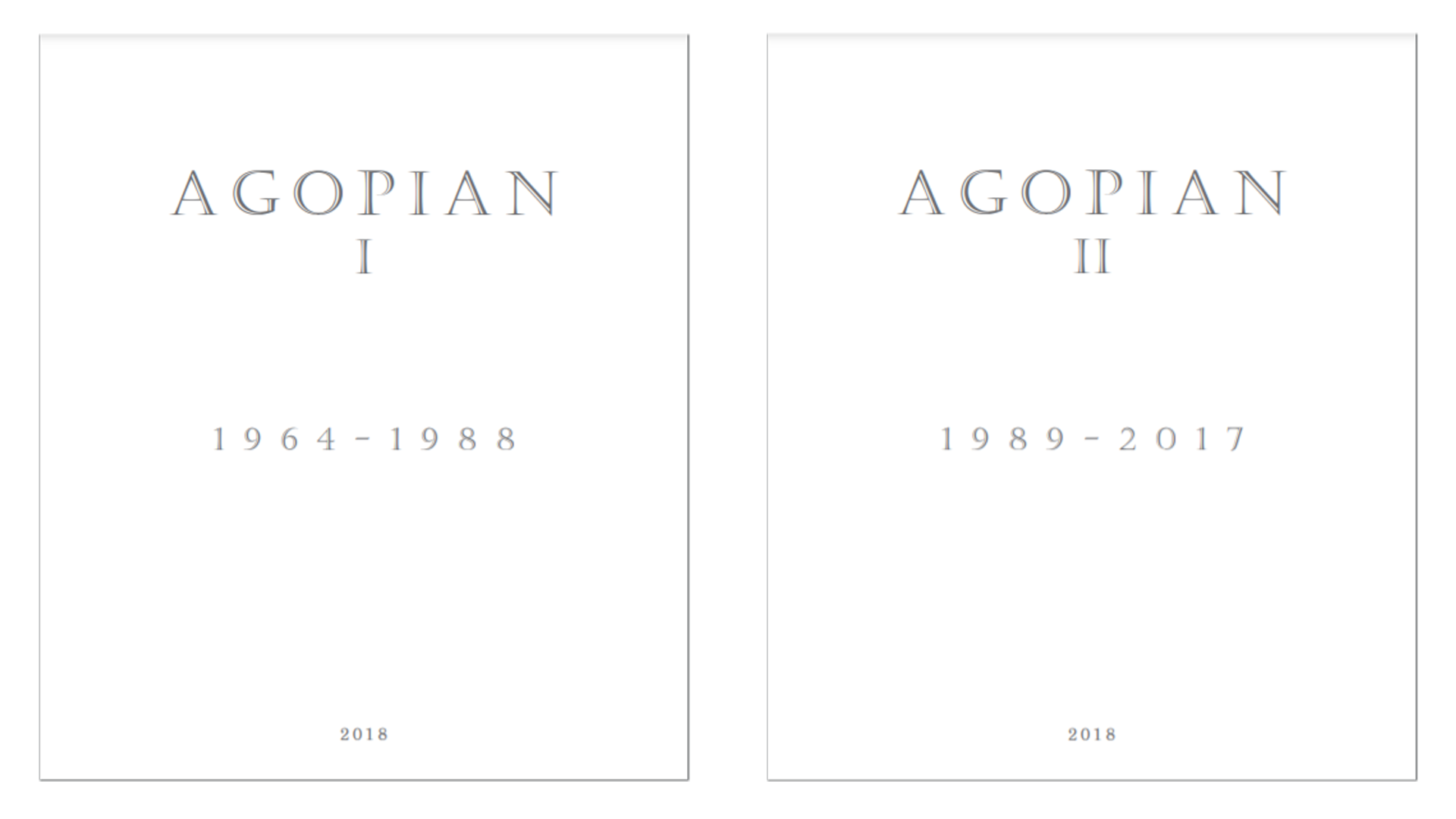 Agopian Artist Book